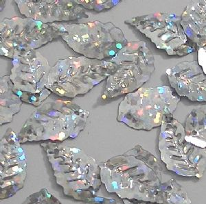CLEARANCE Value Pack 50g 17mm Hologram Silver Leaf Sequins. BUY 1 GET 1 FREE